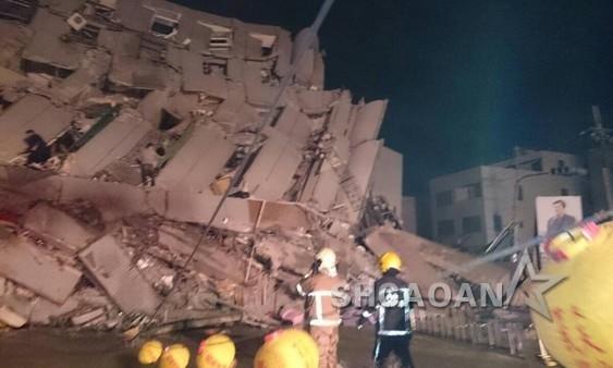 台湾南部今凌晨发生6.4级强地震众明星深夜被震醒发文报平安(图)