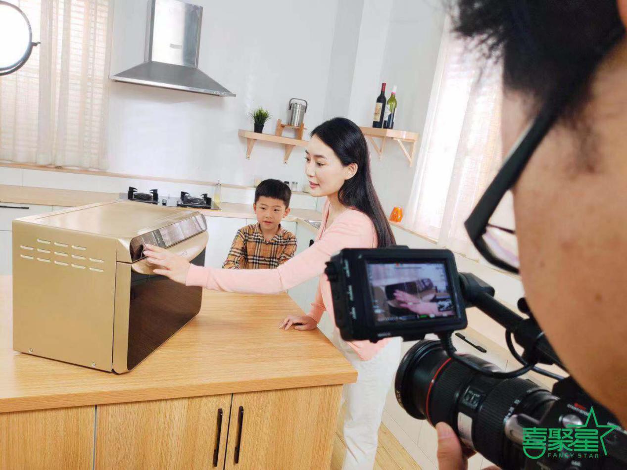 喜聚星旗下签约艺人沈梓豪受邀参与法格电器品牌广告拍摄