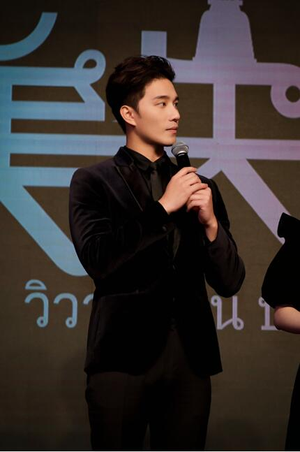 徐志贤出席电影《完美失恋》新闻发布会帅气亮相展现人气