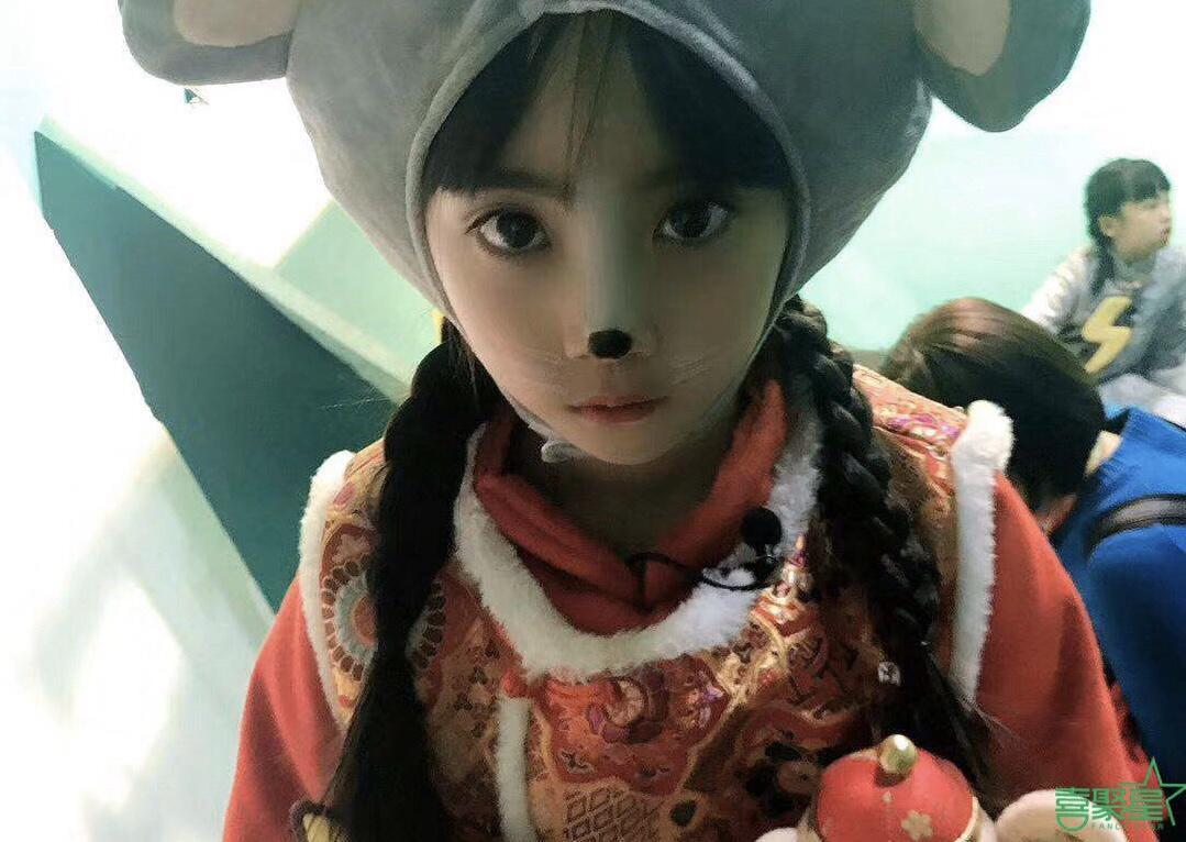 喜聚星旗下签约儿童艺人侯雨彤受邀参与卡酷春节特辑-五鼠闹新春节目录制
